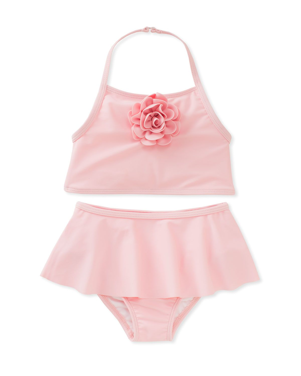 1e8f8bd725c95 Kate Spade New York skirted two-piece halter swimsuit, size 12-24 months