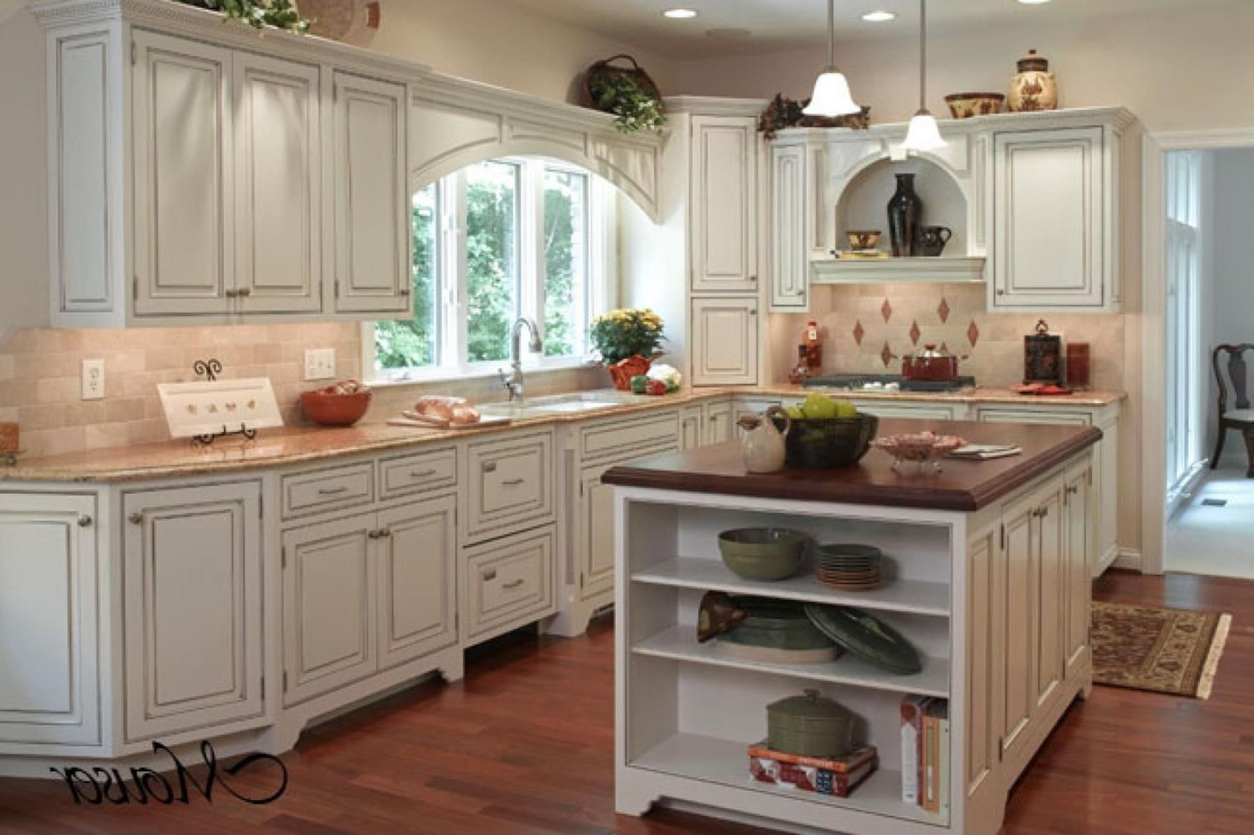 Rustic French Country Cottage Kitchen 17 | Country kitchen ...
