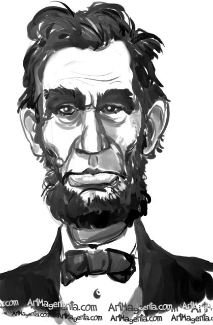 Abraham Lincoln Caricature Cartoon Portrait Drawing By Caricaturist