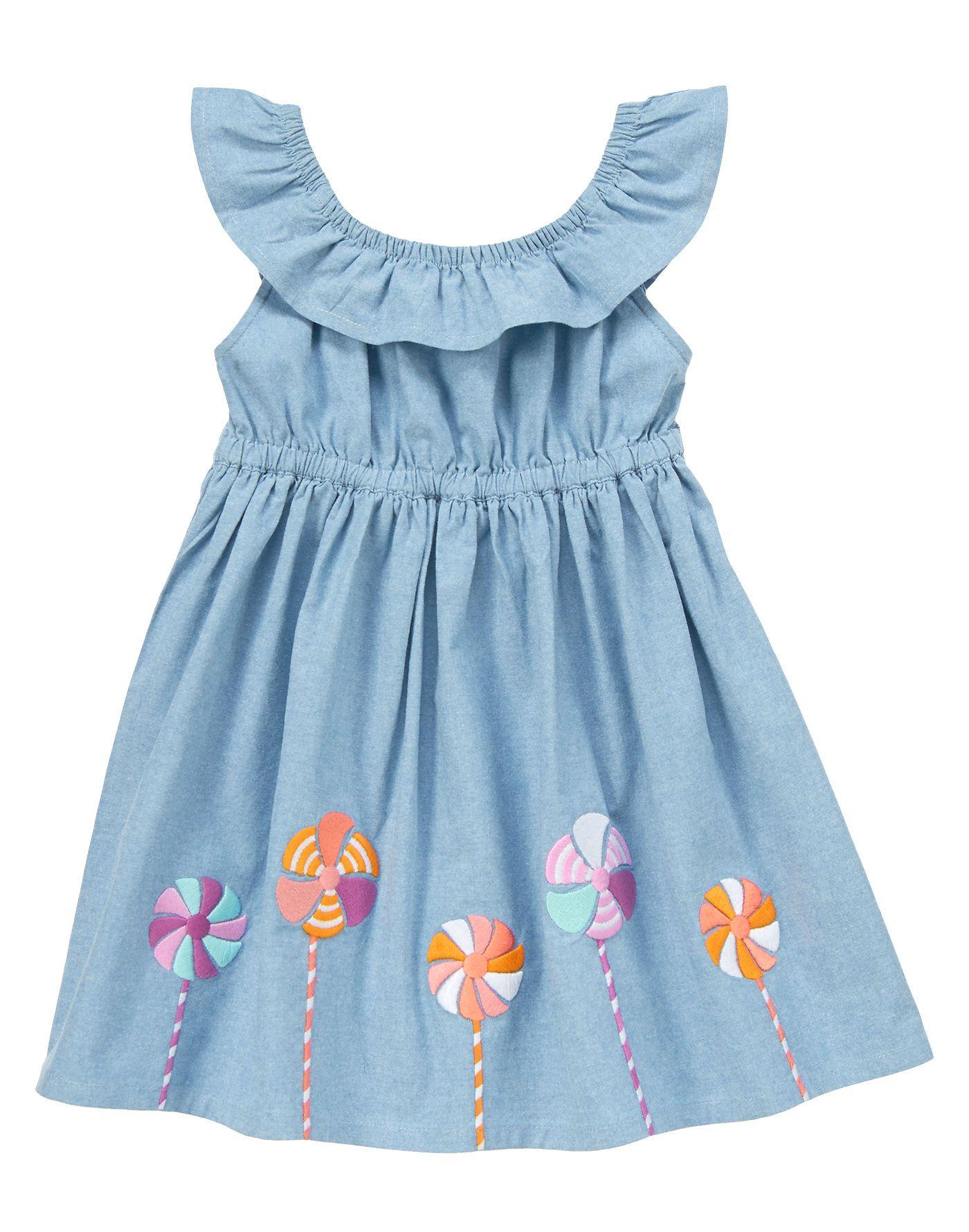 11c36927b0825 Chambray Pinwheel Dress at Gymboree | (Future) Baby Girl Fever ...