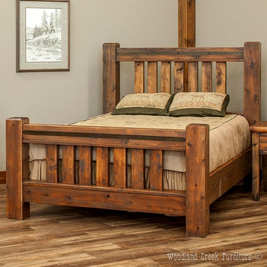 Tips for a minimalist room Rustic bed frame, Timber beds