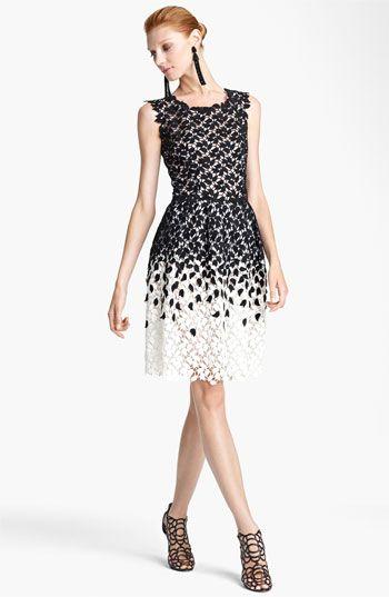 Oscar de la Renta Ombré Lace Dress. Beautiful!!!