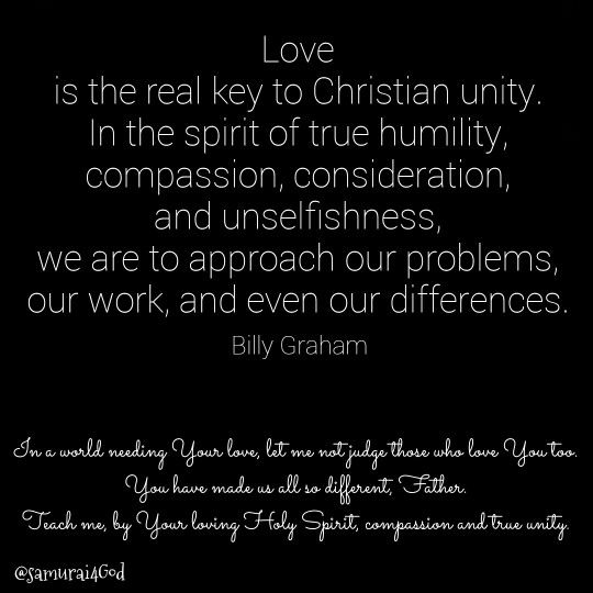 Billy Graham ~humility and unity  | Bible resources