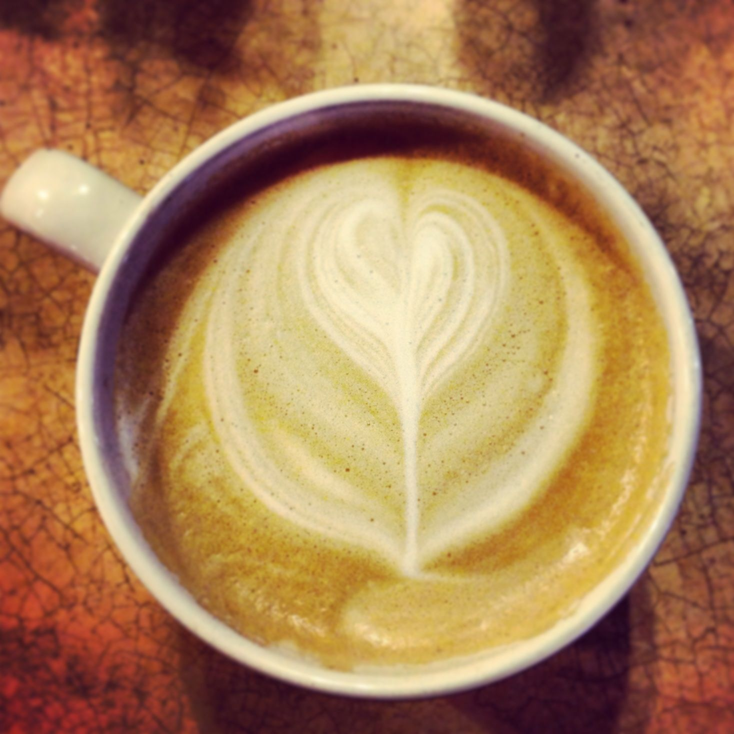 The goodness - Strange Brew Latte made with love.