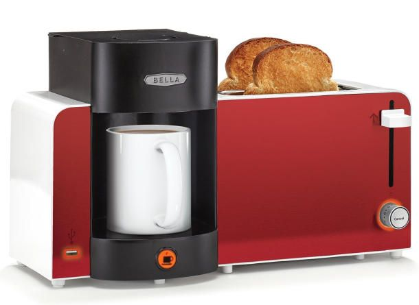 Power up body and mobile device with the Bella Toast and Brew Breakfast Station