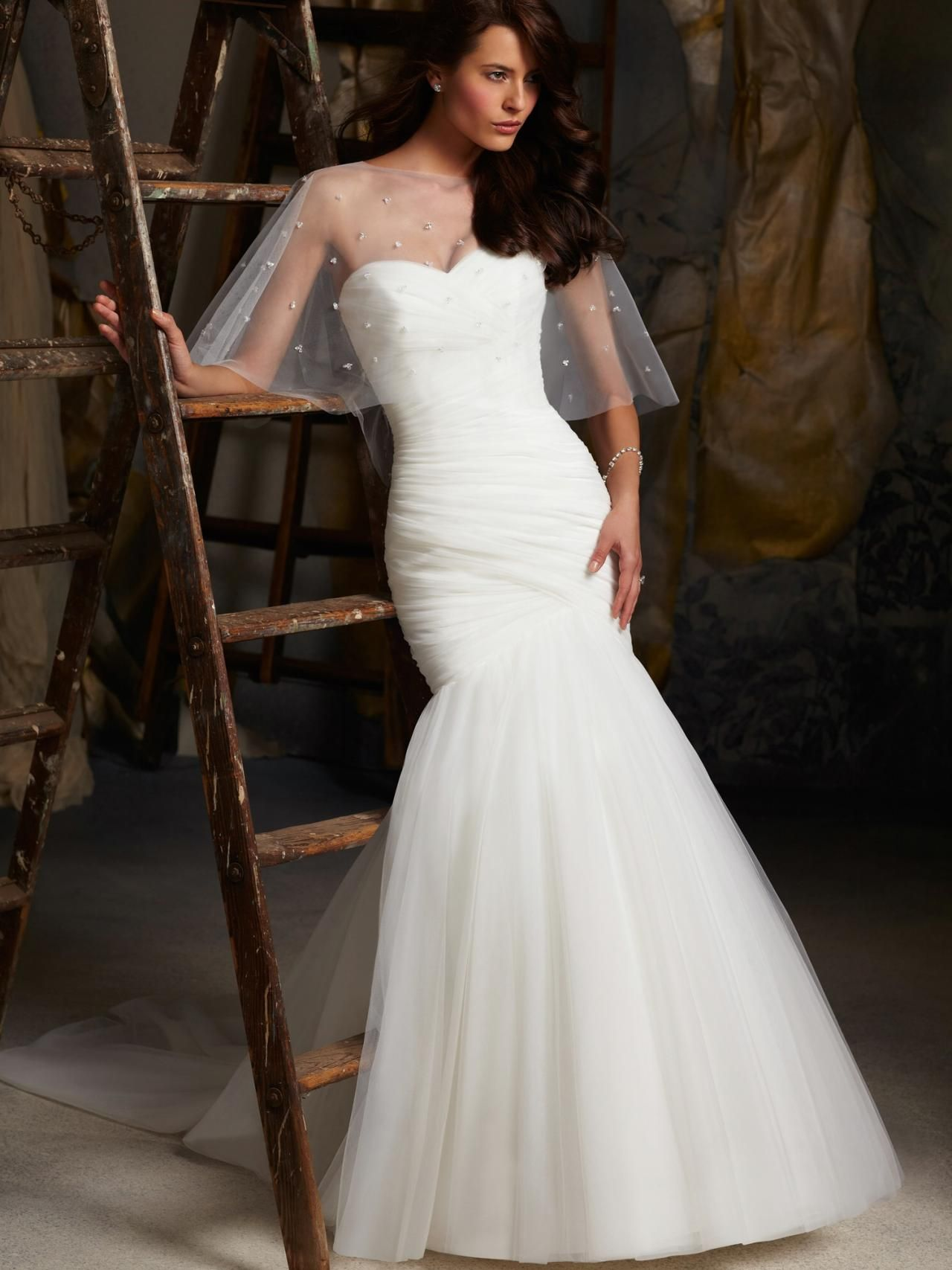 Sweetheart Ruched Mermaid Wedding Dress Bridal Gown Formal Occasion On Luulla