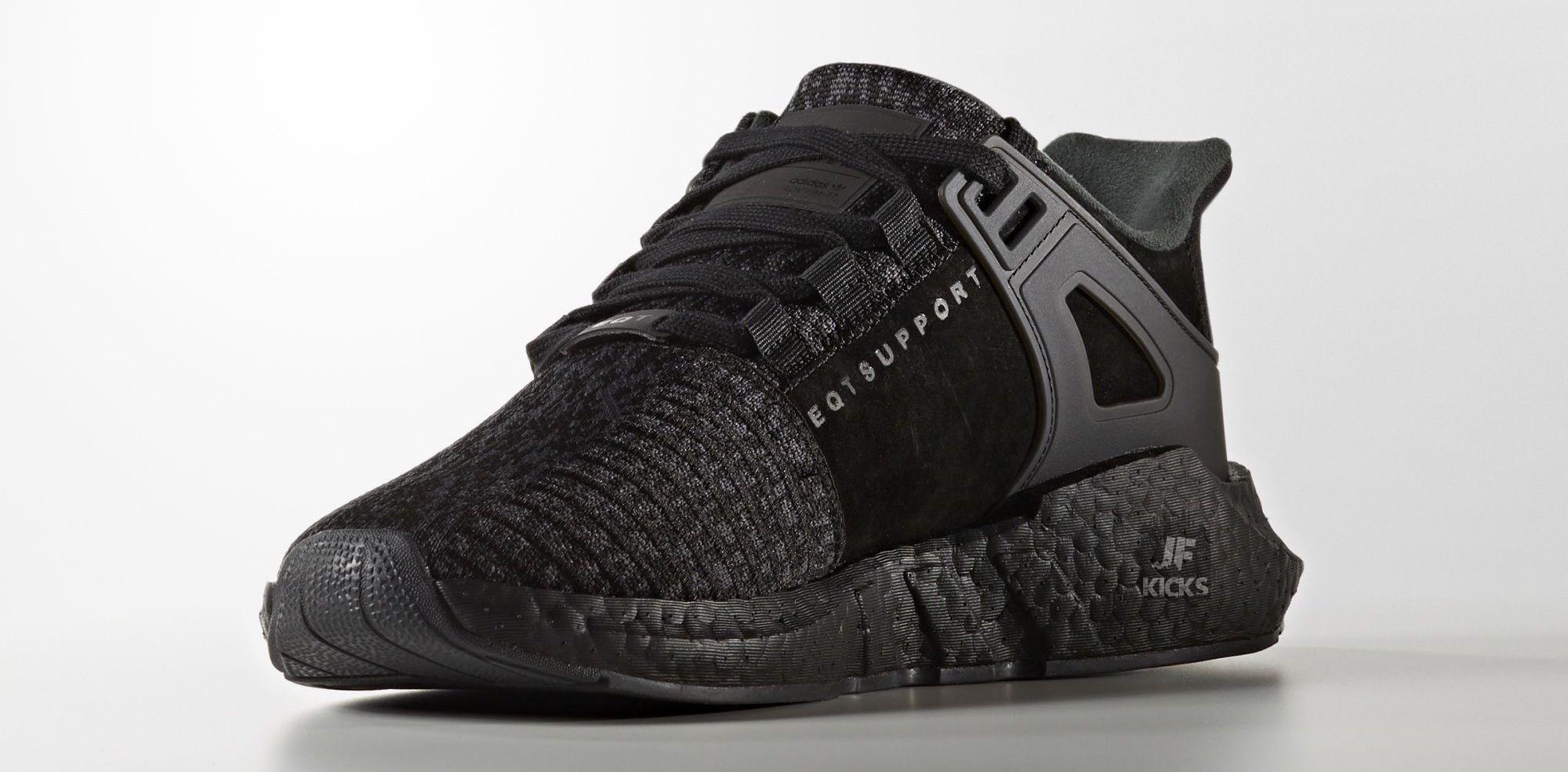 Adidas Eqt Support 93 17 Triple Black Releasing November 24th 2017 Triple Black Eqt 93 17 Releasing Sneakers Men Fashion Women Sport Sneakers Best Sneakers