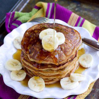 PB&J Banana Pancakes