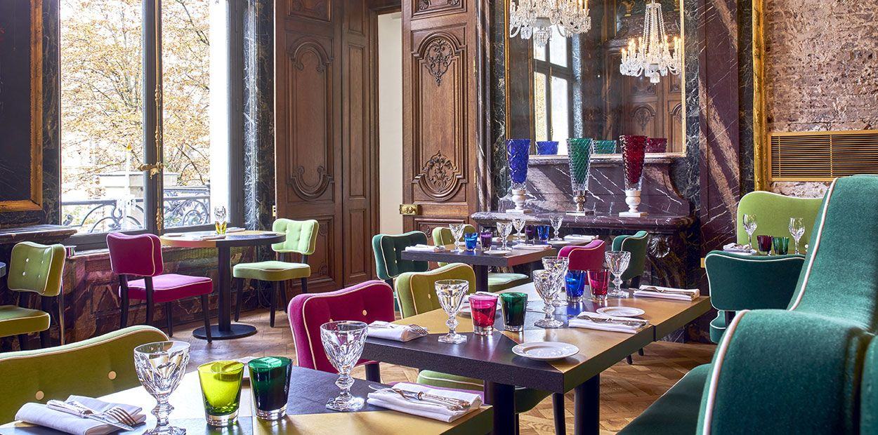 View From Inside Baccarat Cristal Room Restaurant Paris Crystal Room Baccarat Room