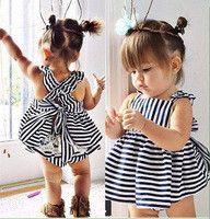 Samgami Baby Girls Clothes Cowboy Denim Sleeveless Backless Short Skirt Summer Baby Dress