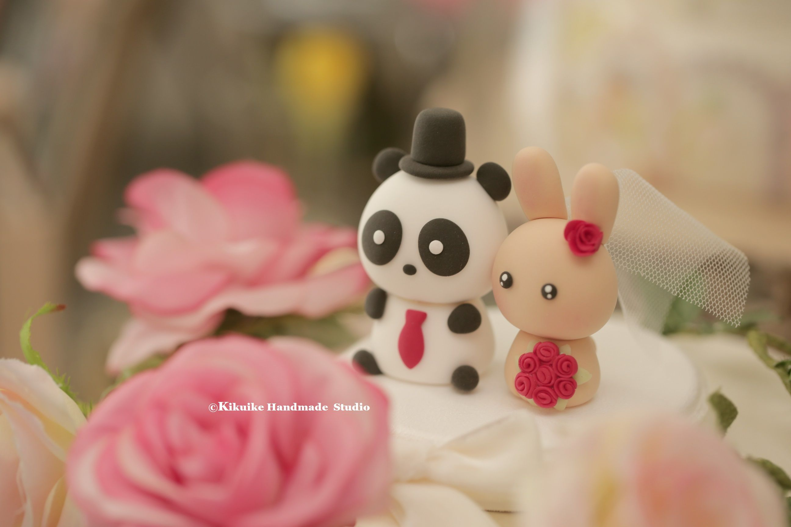 Rabbitbunny and panda wedding cake topper panda pinterest