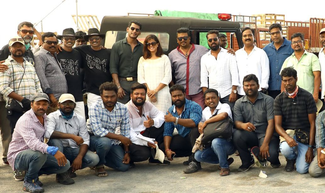 Vishal's Ayogya Team Celebrated Diwali On The Sets!