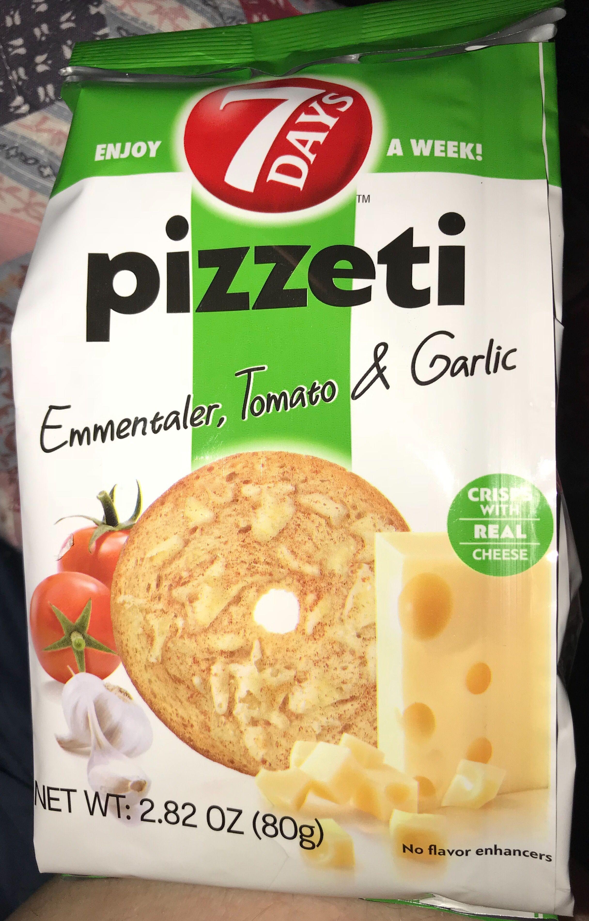 7 days pizzeti emmentaler tomato garlic flavor