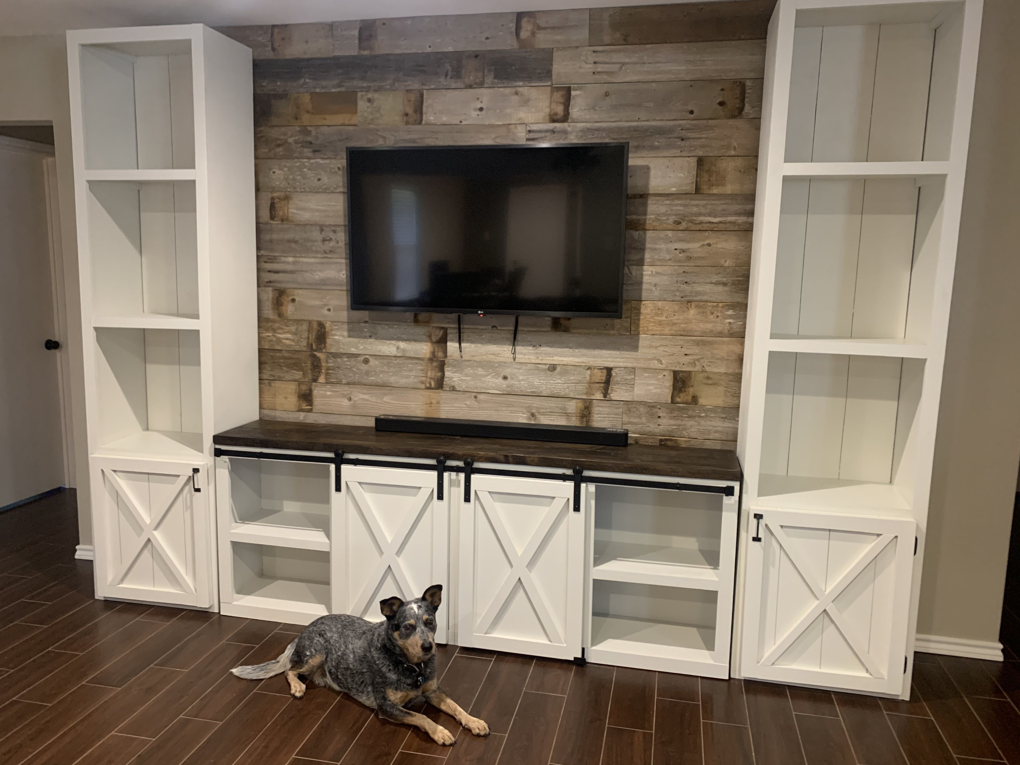 Adalee Farmhouse Entertainment Center in 2020 Farmhouse