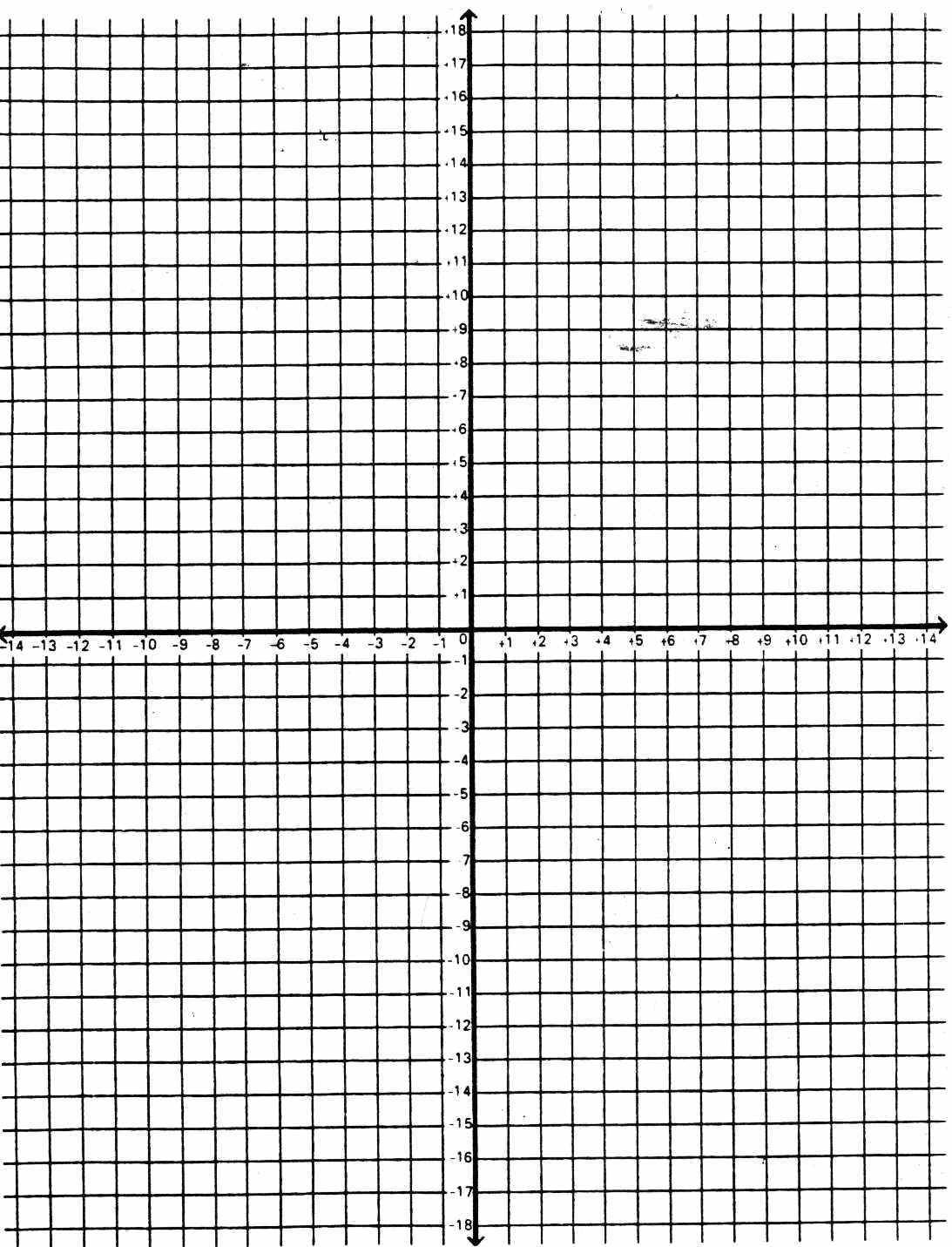Graph Axis Numbered Printable Paper