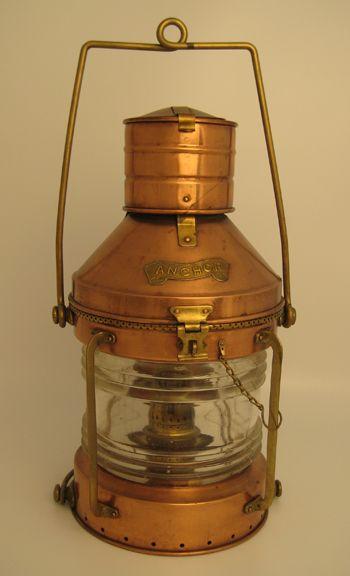 Antique Copper Anchor Lamp | Copper Love | Pinterest ...