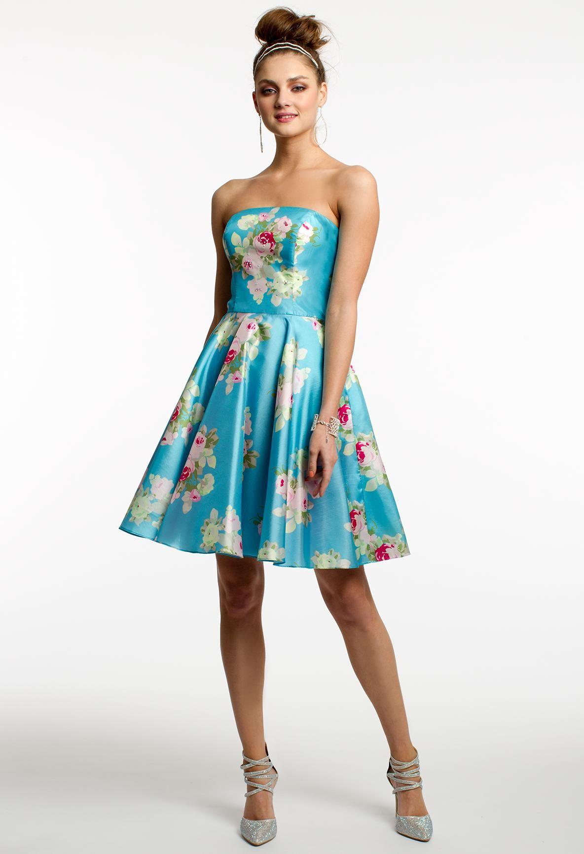 Floral Print Short Party Dress #camillelavie #CLVprom | PROM DRESSES ...