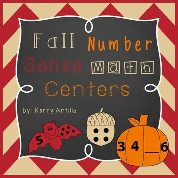 Fall Number Sense Math Centers