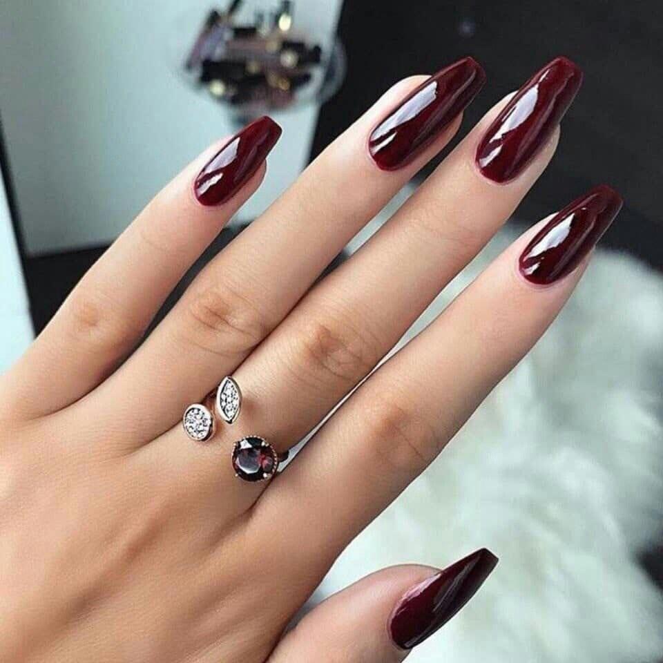 Pin On Red Nail