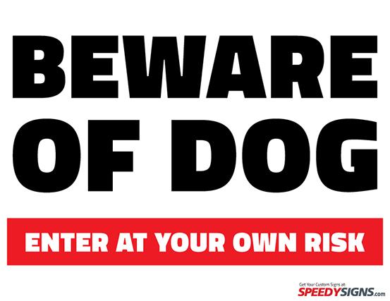 Free Beware Of Dog Printable Sign Template Beware Of Dog