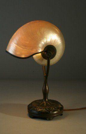 Antique Tiffany Nautilus Lamp! | treasures from the sea ...