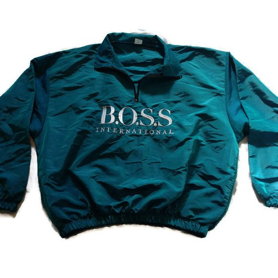 cfeffb85c 90's HUGO BOSS International Pullover / by RetroFreshTees on Etsy, $36.00