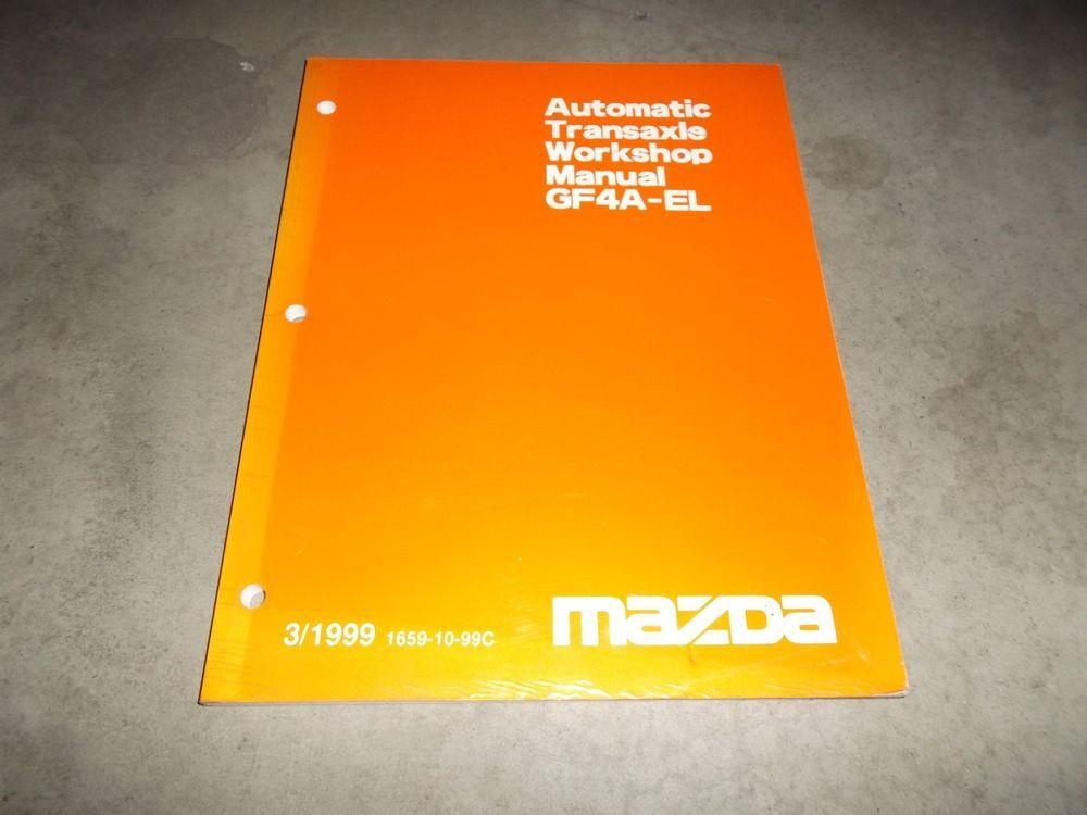 1999a2001 Mazda Mpv Gf4a El Transmission Rebuild Service Repair