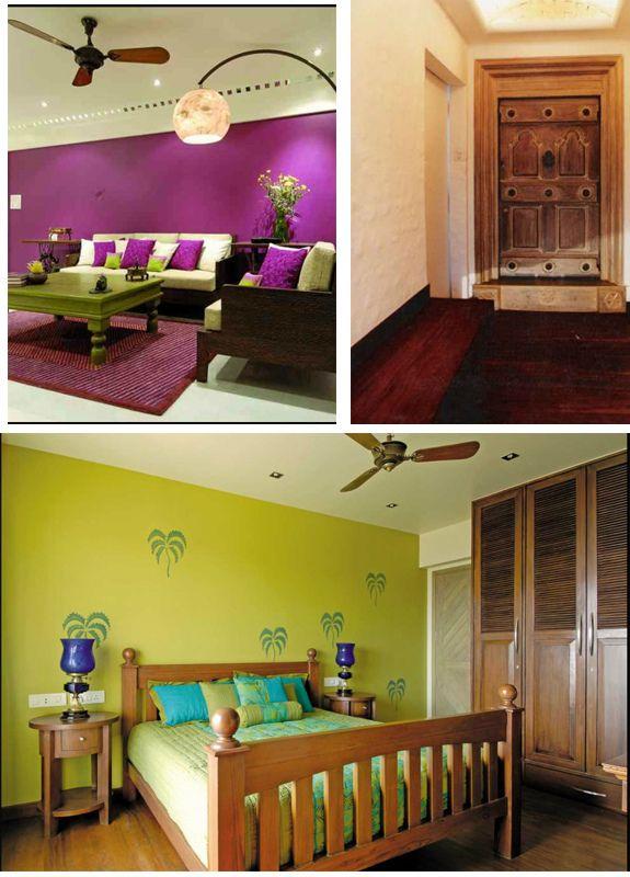 i like the bedroom wall & closet doors!   Ethnic Decor LOVE ...