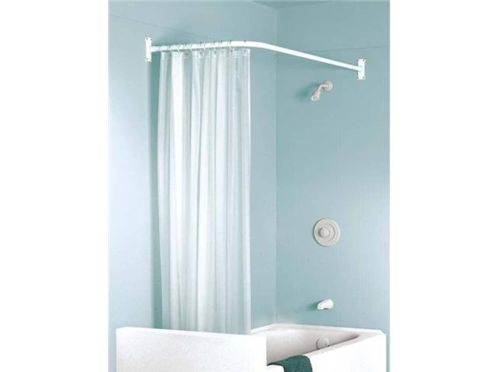 Problem Solvers 10 Uniquely Shaped Shower Curtain Rods Gallery Image 2 Shower Curtain Rods Stall Shower Curtain Modern Shower Curtains