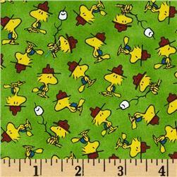 Camp Peanuts Woodstock Toss Green