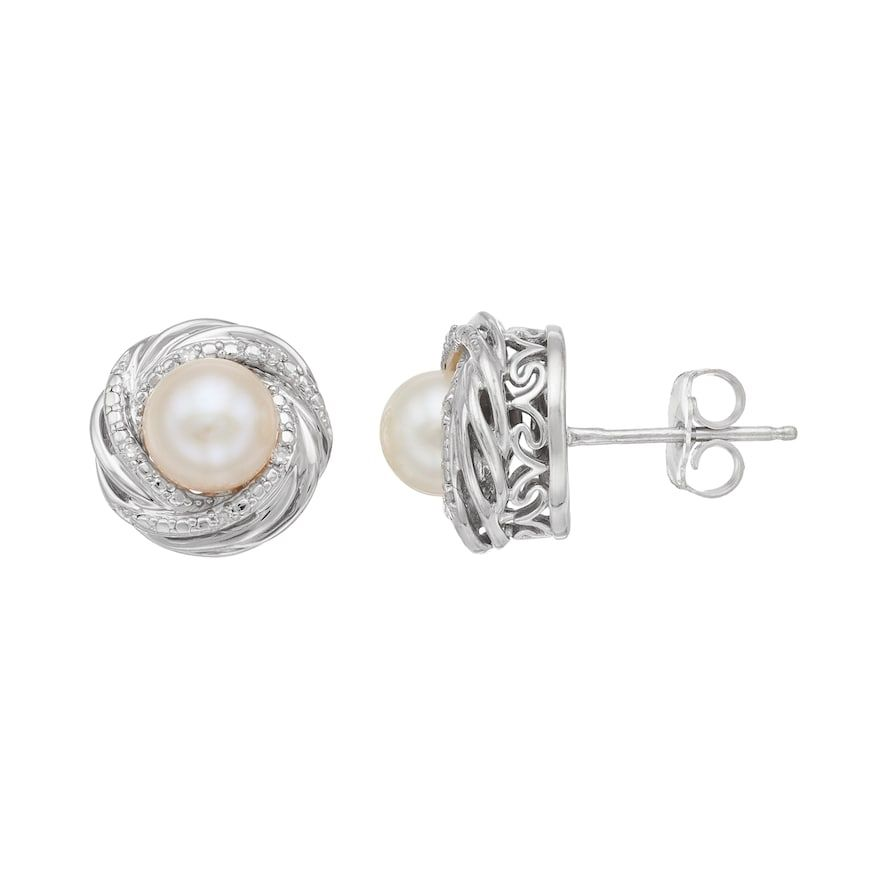 27069ee1514e8 Vera Wang Simply Vera Sterling Silver Freshwater Cultured Pearl ...