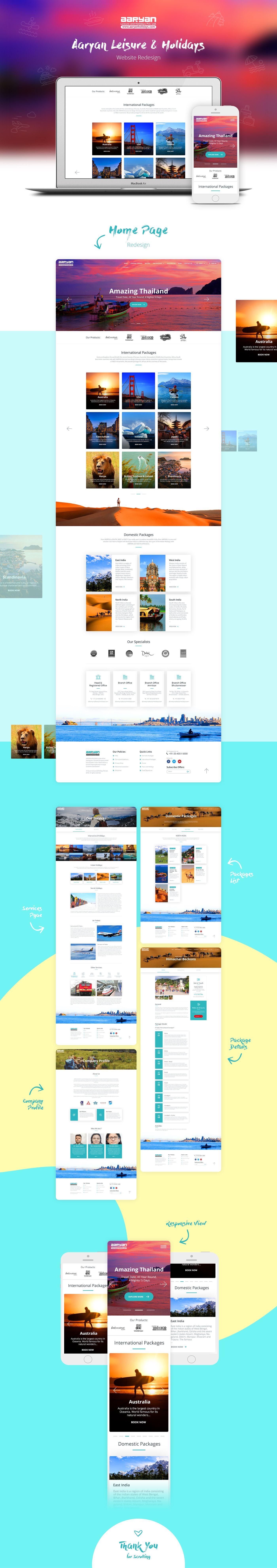 Aaryan Leisure Holiday Website Redesign Modern Website Design
