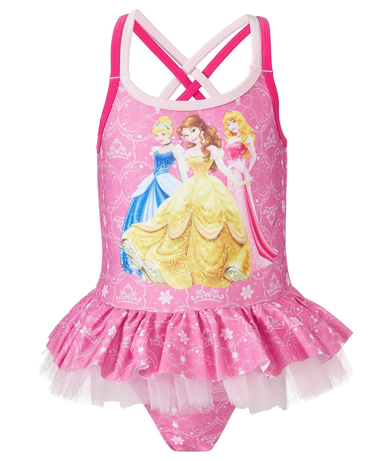 b33c5becd5 Dream Wave Kids Swimwear, Toddler Girls Disney Princess One-Piece Swimsuit  - Kids Girls 2-6X - Macy's