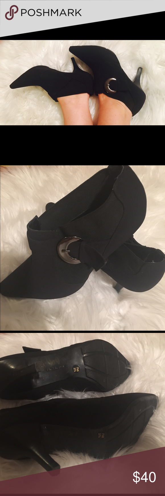BCBG FALL HEELS 🍁🍂PERFECT Fall BCBG heels. Worn inside only. 7 1/2. Suede. Super comfy.🍂🍁 BCBGirls Shoes Ankle Boots & Booties