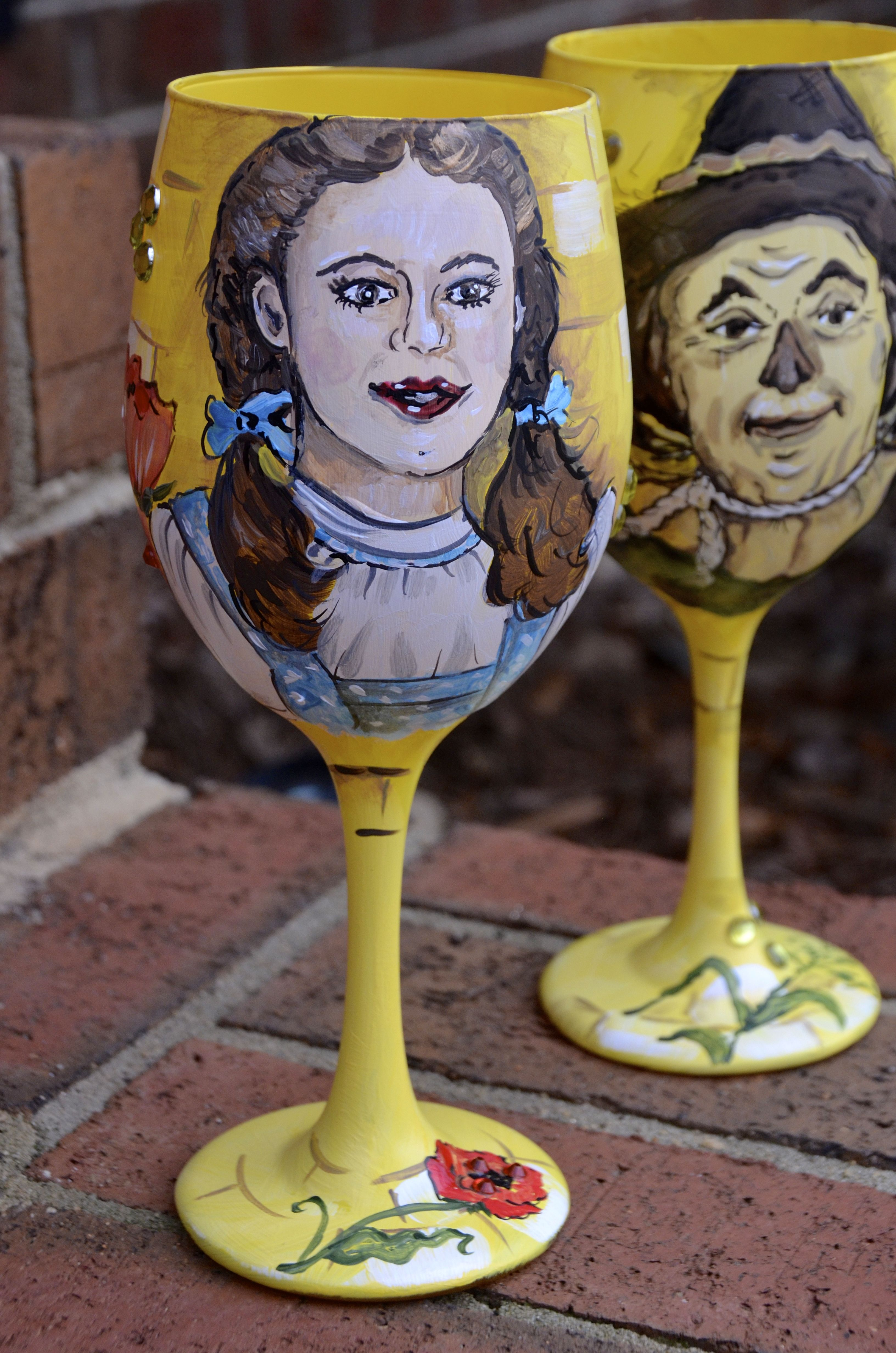 Dorothy Hand Painted Glass
