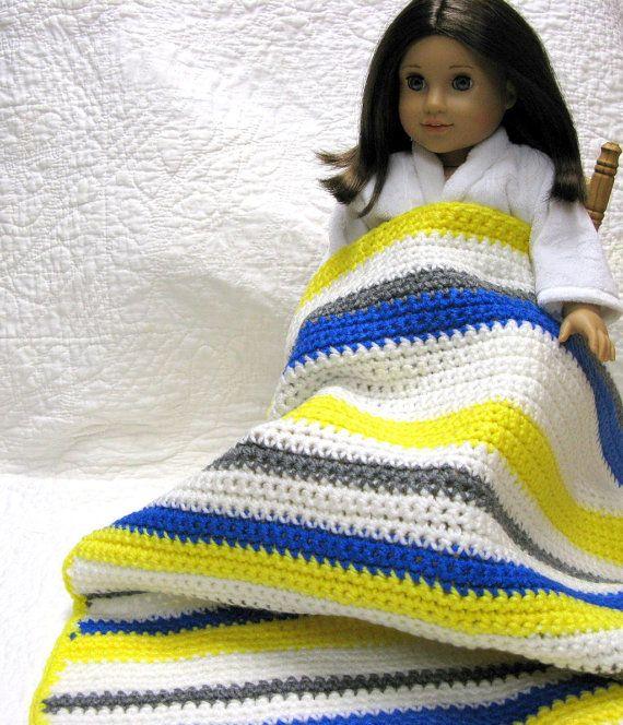Crocheted Doll Blanket American Girl My Twinn by DollPatchworks, $25.00