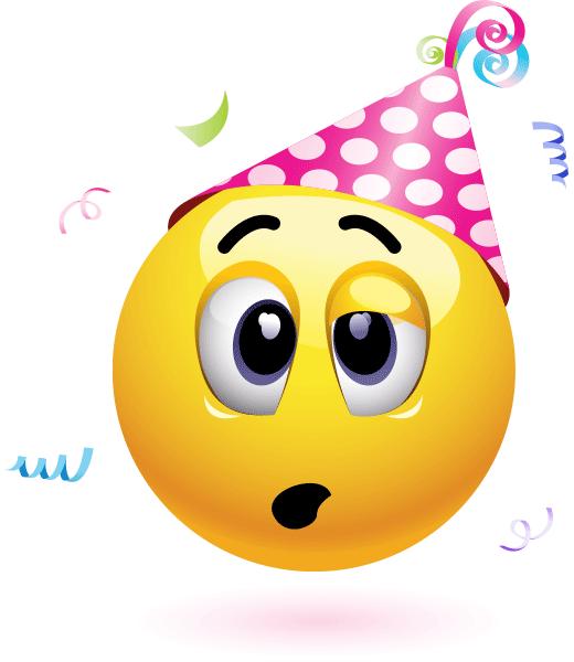 Too Much Party Birthday Emoticons Funny Facebook Smileys Emoji Symbols