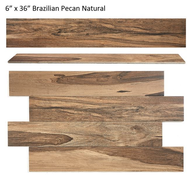 Style Selections Brazilian Pecan Natural 6 In X 36 In Glazed