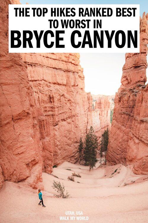 The top 8 Bryce Canyon hikes ranked from best to worst! We'll tell you which you need to prioritise, what to expect and full descriptions for the best hikes you can't miss in Bryce Canyon. #BryceCanyon #Utah #USA