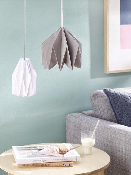 mit anleitung geometrische lampe aus papier diy wohnen pinterest lampenschirm selber. Black Bedroom Furniture Sets. Home Design Ideas