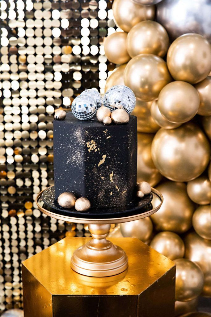 Hello 2020 Black and Gold New Year's Eve Kids Party in