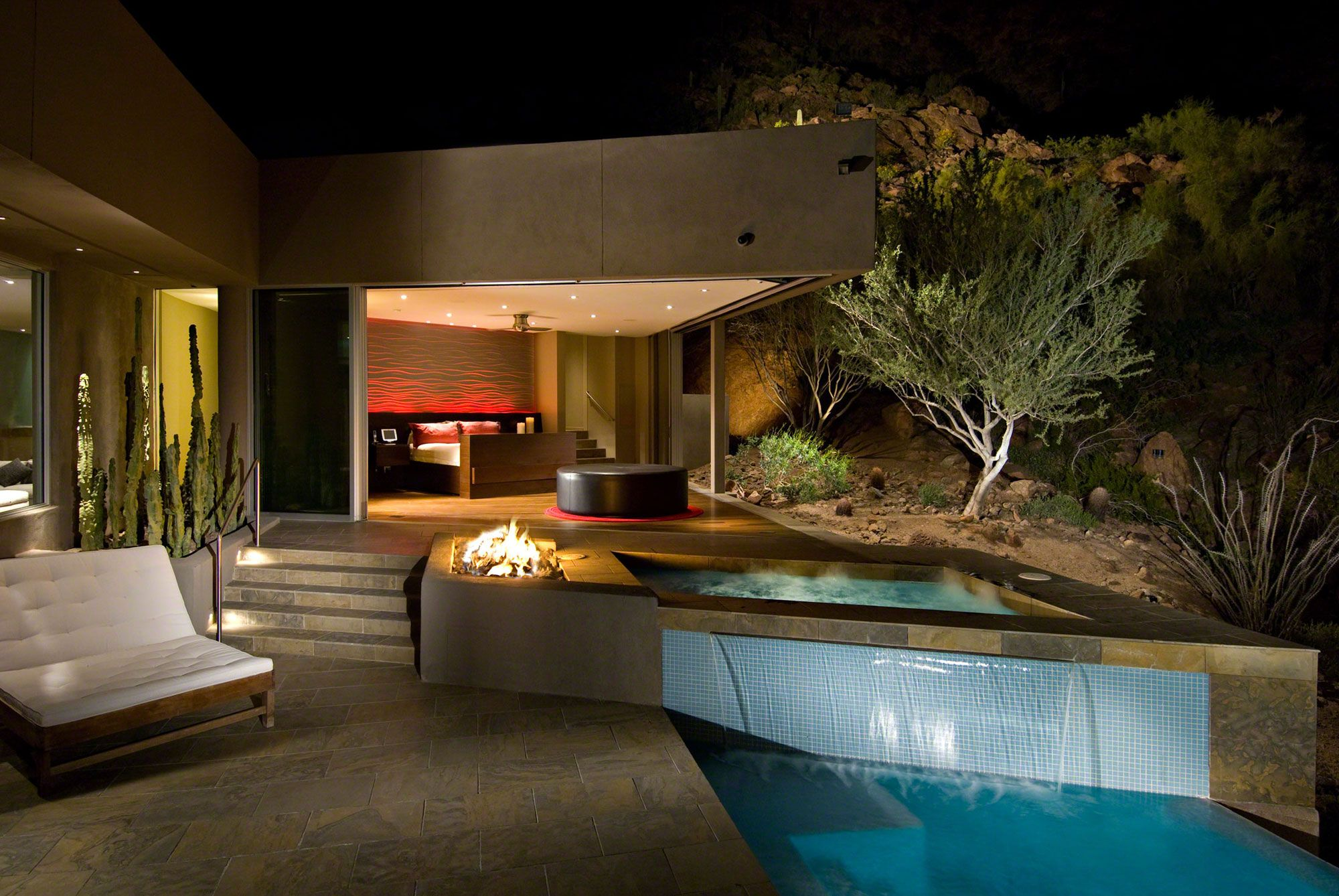 Best Kitchen Gallery: Nightime Illumination Az Exterior Pinterest Paradise Valley of Scottsdale Arizona Home Builder on rachelxblog.com