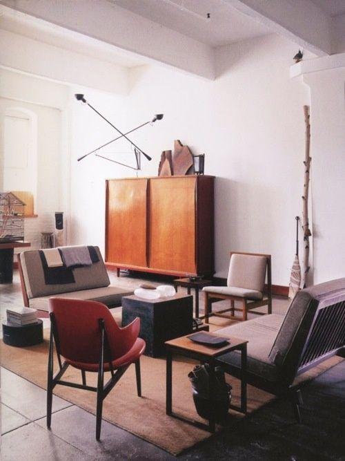 midcentury living rooms Midcentury Modern Pinterest Mid