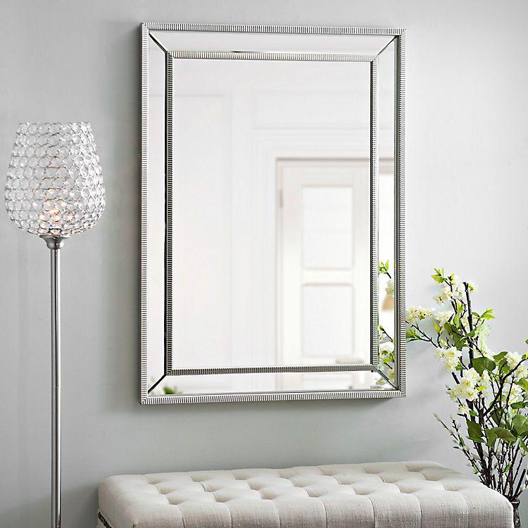 Medium Silver Luxe Mirror | Kirklands | Mirrored ... on Floor Mirrors Decorative Kirklands id=37460