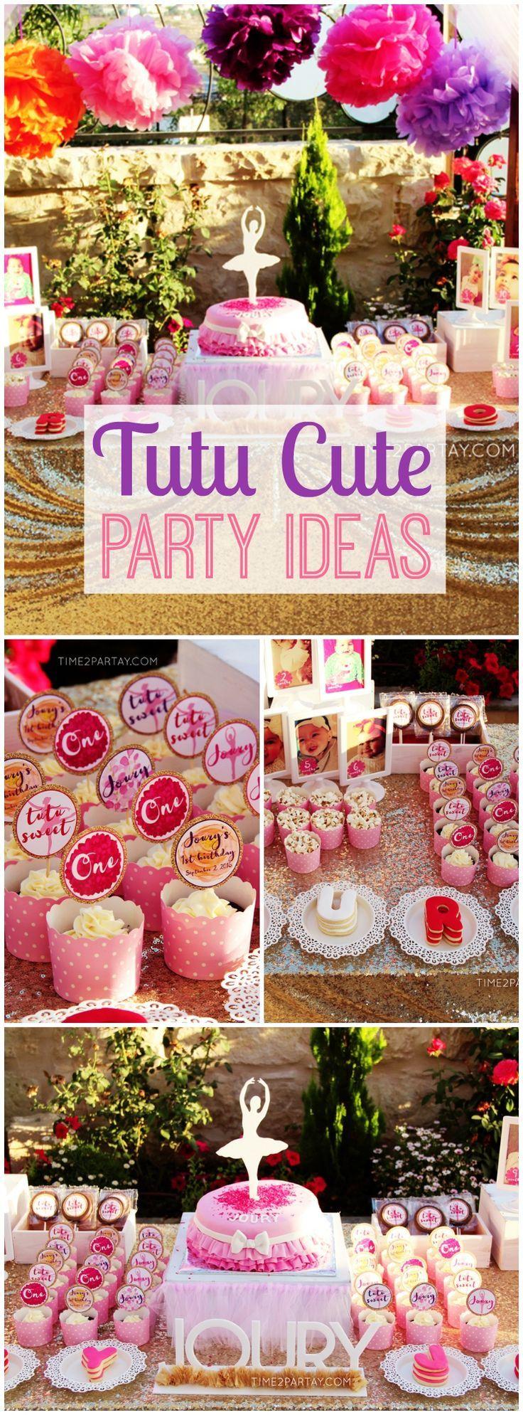 Tutu Birthday Party Decor