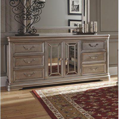 Fleur De Lis Living Randell 6 Drawer Combo Dresser Furniture Dresser With Mirror Headboard Footboard