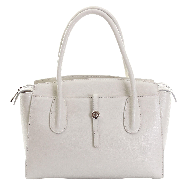 1baf300e4f01 Marlafiji Stella Cream Italian leather Handbag