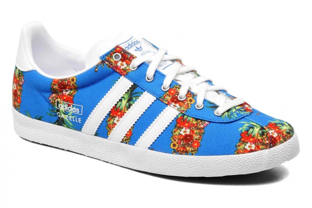 adidas Gazelle Sneaker - blau/Ananas   Adidas originals, Adidas ...