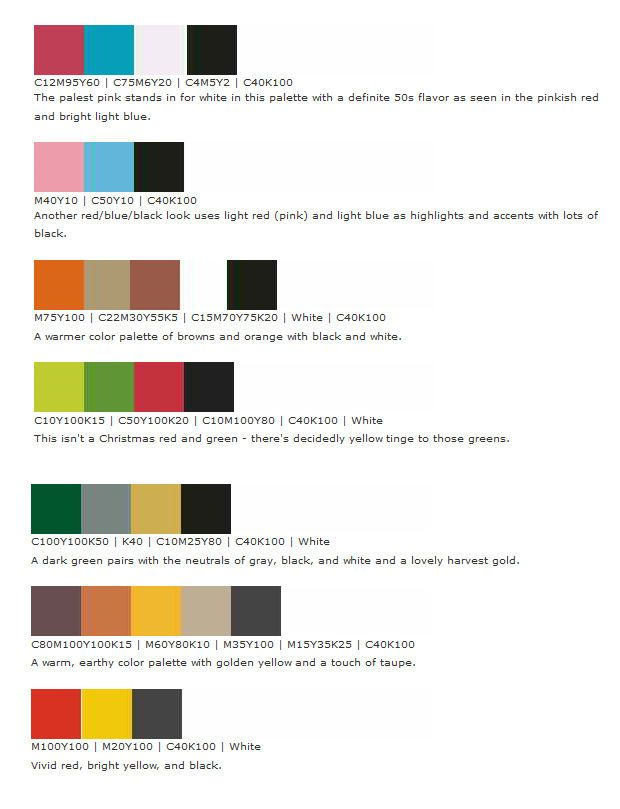 Atomic Age Color Palette Mid Century Modern Colors