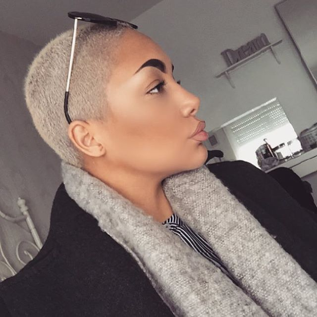 blonde bald cut even all around short natural haircuts short